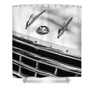 1956 Hudson Rambler Station Wagon Grille Emblem - Hood Ornament Shower Curtain by Jill Reger