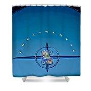 1956 Lincoln Continental Mark II Emblem Shower Curtain