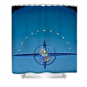 1956 Lincoln Continental Mark II Emblem Shower Curtain