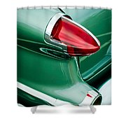 1956 Oldsmobile 98 Taillight Shower Curtain
