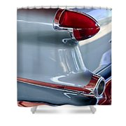 1956 Oldsmobile Taillight Shower Curtain