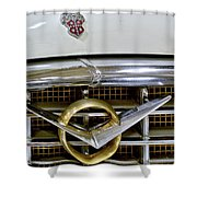 1956 Packard Caribbean Headlight Grill Shower Curtain