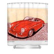 1956 Porsche 356 Cabriolet Shower Curtain