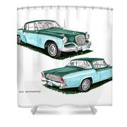 1956 Studebaker Coming And Going Shower Curtain