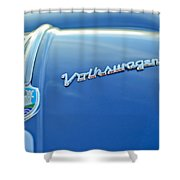 1956 Volkswagen Vw Bug Hood Emblem Shower Curtain