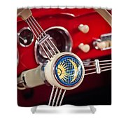 1956 Volkswagen Vw Karmann Ghia Coupe Steering Wheel 2 Shower Curtain