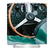 1957 Aston Martin Dbr2 Steering Wheel Shower Curtain