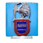 1957 Aston Martin Mk IIi Prototype - Tickford Coachwork Emblem Shower Curtain