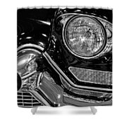 1957 Cadillac Coupe De Ville Headlight Shower Curtain