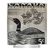 1957 Canada Duck Stamp Shower Curtain