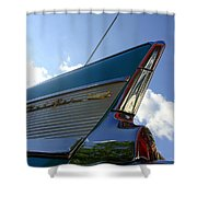 1957 Chevrolet Bel Air Fin Shower Curtain