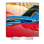 1957 Chevrolet Belair Hood Ornament Shower Curtain