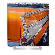 1957 Chevrolet Belair Taillight Emblem -019c Shower Curtain