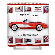 1957 Chevrolet Corvette Art Shower Curtain