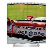 1957 Chevrolet Corvette Roadster Dashboard Shower Curtain