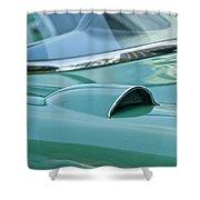 1957 Chevrolet Corvette Scoop Shower Curtain