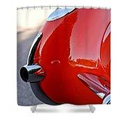 1957 Chevrolet Corvette Taillight Shower Curtain