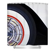 1957 Chevrolet Corvette Wheel Shower Curtain