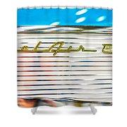 1957 Chevy Bel Air Emblem Shower Curtain