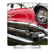 1957 Chevy Bel Air Front End Shower Curtain
