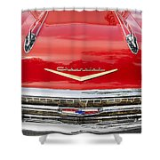 1957 Chevy Front End Shower Curtain
