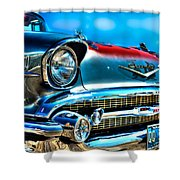 1957 Chevy Grille Shower Curtain