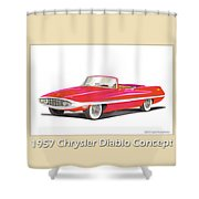 1957 Chrysler Diablo Convertible Coupe Shower Curtain by Jack Pumphrey