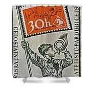 1957 Czechoslovakia Stamp Shower Curtain