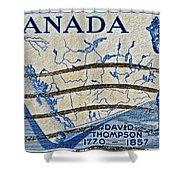 1957 David Thompson Canada Stamp Shower Curtain