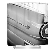 1957 Ford Fairlane 500 Taillight Emblem Shower Curtain