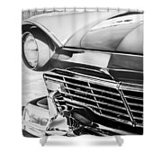 1957 Ford Fairlane Grille -107bw Shower Curtain
