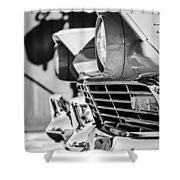 1957 Ford Fairlane Grille -205bw Shower Curtain