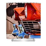 1957 Ford Fairlane Grille -205c Shower Curtain