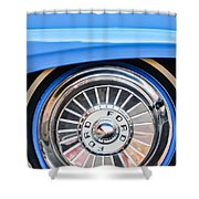 1957 Ford Fairlane Wheel Shower Curtain
