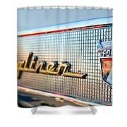 1957 Ford Skyliner Retractable Hardtop Emblem Shower Curtain