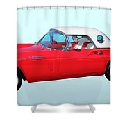 1957 Ford Thunderbird  Shower Curtain