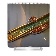 1957 Ford Thunderbird Emblem Shower Curtain