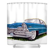 1957 Lincoln Premiere Convert Shower Curtain