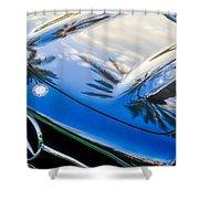 1957 Mercedes-benz 300sl Grille Emblem -0167c Shower Curtain