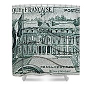 1957 Palais Del Elysee Paris Stamp Shower Curtain