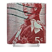1957 St. Lawrence Seaway Opening Stamp Shower Curtain