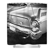 1957 Studebaker Golden Hawk Bw    Shower Curtain