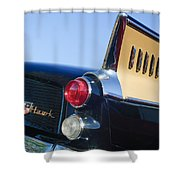 1957 Studebaker Golden Hawk Supercharged Sports Coupe Taillight Emblem Shower Curtain