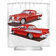 1957 Studebaker Silver Hawk Shower Curtain