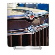 1957 Willys Wagon Grille Shower Curtain