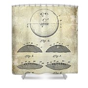1958 Bowling Patent Drawing Shower Curtain