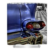 1958 Cadillac Deville Taillight Shower Curtain