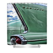 1958 Cadillac It's All In The Fin. Shower Curtain