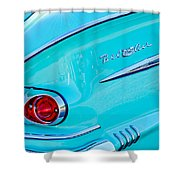1958 Chevrolet Belair Taillight 2 Shower Curtain