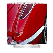 1958 Chevrolet Corvette Taillight Shower Curtain
